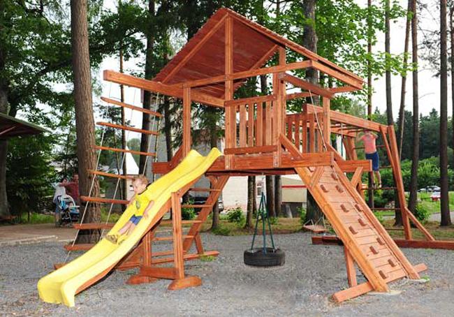 Изготовление детской площадки из дерева своими руками