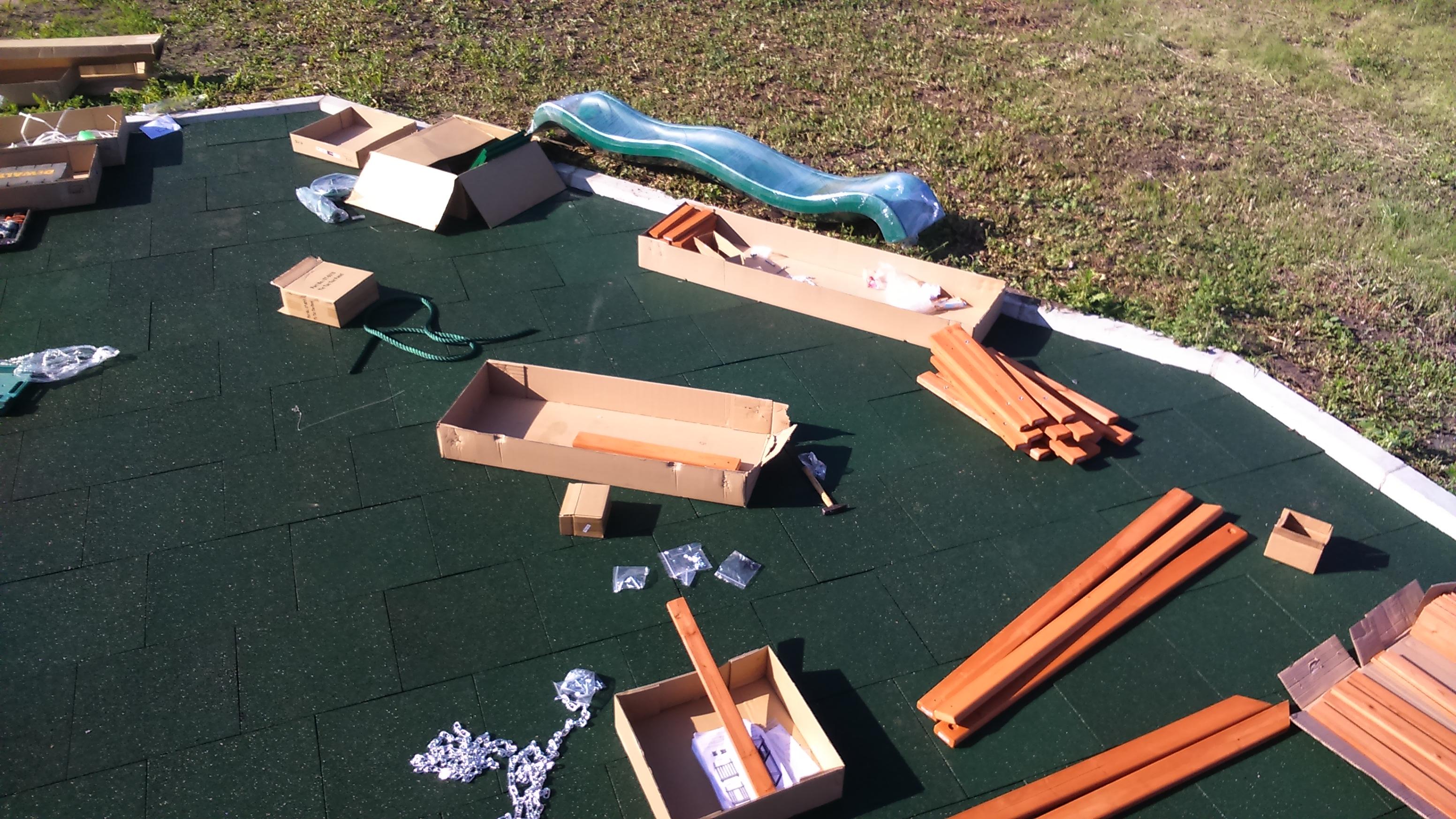 Мастер-класс по монтажу детской площадки для дачи